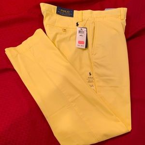 Polo Yellow Stretch Straight Fit Chinos